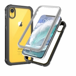 C4U® Shockproof Defence - iPhone XR - Stötdämpande skal 3i1 Black iphone xr
