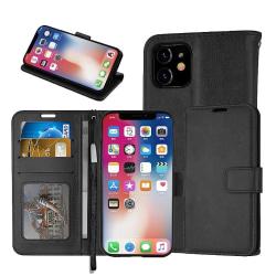 Läderfodral / Plånbok - iPhone 11 Pro Max, 6.5 - plånboksfodral  Svart
