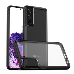 Samsung Galaxy S21 ShockBlack - Slimmat genomskinligt skal C4U® Black Galaxy S21