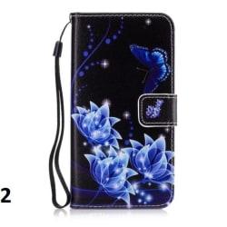 Fodral iPhone 8 Plus / iPhone 7 Plus   Dark Flowers Mobilfodral Blå