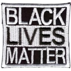 Black Lives Matter Broderat Tygmärke