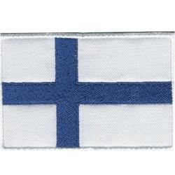Finlands Flagga Broderat Tygmärke