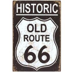 Historic Old Route 66 Metallskylt