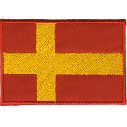 Skånska Flaggan Broderat Tygmärke