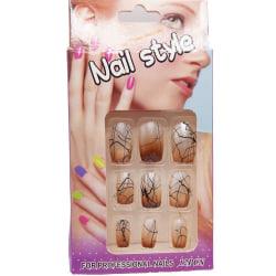 12 st Lösnaglar Nageltippar med 2g nagellim