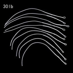 10st / mycket flugfiske linje flätad ögla kontakt 20/30 / 50lb lea White 30LB