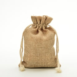 1 ~ 5x Mini Rustik Burlap Pouch Sack Drawstring Tie Bag Bröllop P