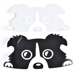 1 st Border Collie Car Sticker Dekor Tillbehör Söt hundmotor Black
