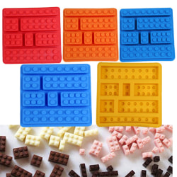 1 st Choklad Silikonform Blocks Bricks Ice Tray Fondant Sq Sky Blue
