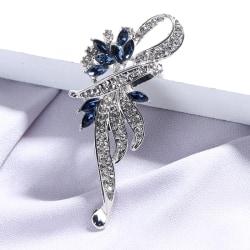 1 st elegant kvinna kristall broscher stift mode smycken kläder Silver