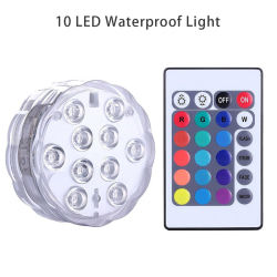 10 ledd nedsänkbar fjärrkontroll RGB 16 färger som simmar u Transparent