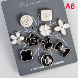 10st / set söt praktisk antireflexbehandlad brosch klänning halsringning pärla A6