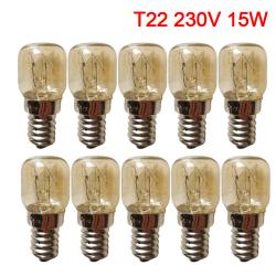 10st ugnslampa 300 ° C spis ugnslampa 15W 25W 120V 2 15W-EU