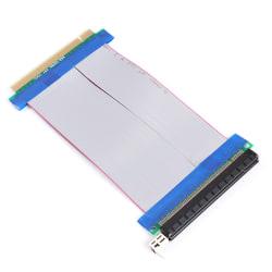 16X till 16X PCI-E Express Ribbon Flexibel Powered Riser Extender Black