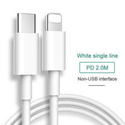 18/20 / 36wPD + QC Snabbladdare IPhone Lightning Type-c Plug Datum C Data Line - 2M