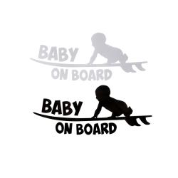 1PC Baby ombord vinyl dekal bil klistermärke DIY reflekterande bilar White
