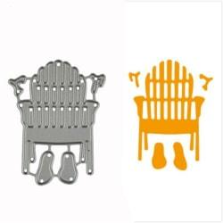 1pc Strandskor Design Metal Cutting Die För DIY Scrapbooking A