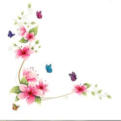 1 st fjäril blomma avtagbar hem vägg klistermärke konst vinyl mura one size