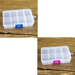 1 ST Plast 8 Spår Justerbar Smycken Förvaringslåda Väska Craft O Blue