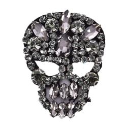 1st Rhinestones Skull Beaded Sequins Sy på lappar för kläder 5cmx6cm
