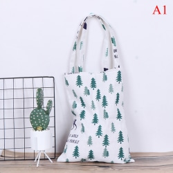 1x Pine kaktus linneväska tote ECO shopping utomhus canvas canvas A1