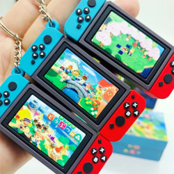 2020 Ny Nintendo Switch Car Nyckelring Mode Mjukt gummi PVC K ONE SIZE
