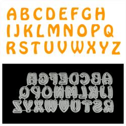 26st stora bokstäver metall skärformar för DIY Scrapbooking A