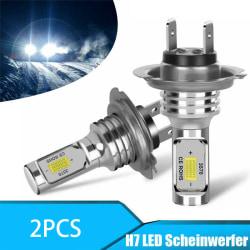 2ST H7 LED-bil Retro-passande glödlampor DRL H4 Strålkastare Bu 2PCS