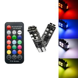 2PCS RGB T10 W5W 3535 10SMD För bil LED-markörlampa Position Li