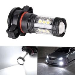 2x PSX24W H16 5202 Supervit 160W LED 144 SMD glödlampa dimljus One Size