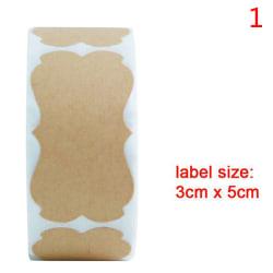 300st burk glasflaska självhäftande etiketter Tom Kraft Sealing Sti 1