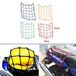 30x30cm motorcykel cykel bungee tank hjälm webbkablar mesh last blue n/a