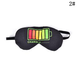 3D-ögonmask Skyddskåpa Vila sömnögonfärg Ögonbindel Sköld Tr 2#