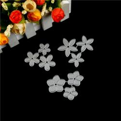 3st Liten Blomma Design Metal Cutting Die För DIY Scrapbooking