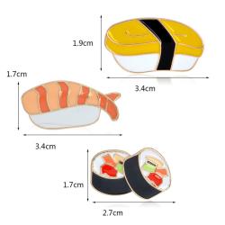 3st / set emalj sushi broschnålar skjortkrage dåligt Multicolor