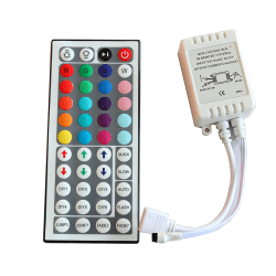 44 tangenter IR-fjärrkontroll Trådlös för 3528 5050 RGB SMD LED