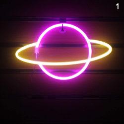 ledde neonljus färgglada kreativa planet nattlampa batteri 1