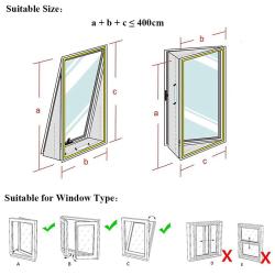 4 m luftslussförsegling bärbar mobil luftkonditioneringsfönster Seali 10 * 10 * 5 cm