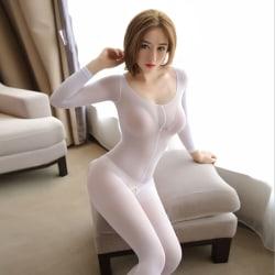 kvinnor dam glänsande rena glansiga strumpbyxor strumpbyxor underkläder White