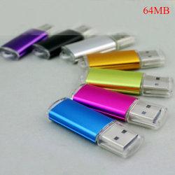 64 MB USB 2.0 flashminne minnessticka PC-lagring för bärbar dator Purple
