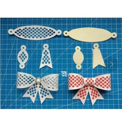 6st Bow Tie Design Metal Cutting Die För DIY Scrapbooking Albu