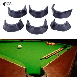 6st / Set Biljard Pool Table Valley Pocket Liners Gummi Billia Black
