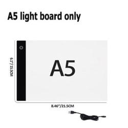 A4 / A5 LED-ljusskiva Diamantmålningsverktygssatser 28/56 Raster D A5 light board only