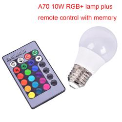 A50 60 70 E27 3W RGBW LED-lampa Magisk glödlampa byter IR-rem