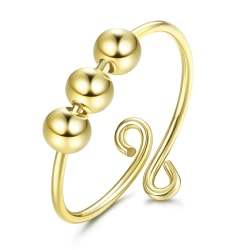 justerbar stressavlastare roterande ångestplätering tunn pärla ri Gold