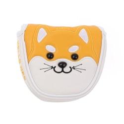 Akita Shiba Inu Dog Golf Mallet Putter Cover Magnetc Headcover