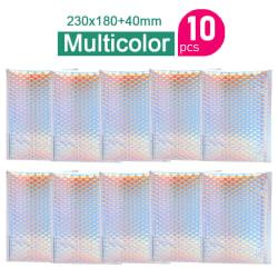 10st aluminiumfolie bubbla mailer förpackning frakt vadderad enve Multicolor 23x18cm