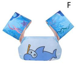 Baby Float tecknad armärm flytväst baddräkt Pool Float Sw F