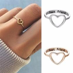 bästa vänner hjärta finger ring knoge ring vän älskar smycken Silver 7