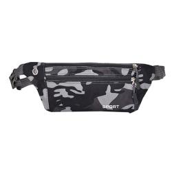 Kamouflage Vattentät midjeväska Mobilväskahållare black